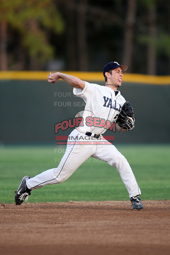 March 13, 2010:  Shortstop Trey Rallis of the Yale Bulldogs vs. the Akron Zips in a game at Henley Field in Lakeland, FL.  Photo By Mike Janes/Four Seam Images