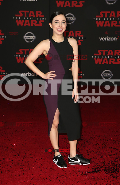 LOS ANGELES, CA - DECEMBER 9: Esther Povitsky, at Premiere Of Disney Pictures And Lucasfilm's 'Star Wars: The Last Jedi' at Shrine Auditorium in Los Angeles, California on December 9, 2017. Credit: Faye Sadou/MediaPunch /NortePhoto.com NORTEPHOTOMEXICO