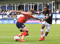 Jordan Cook of Luton Town holds up the ball during the Sky Bet League 2 match between Luton Town and Doncaster Rovers at Kenilworth Road, Luton, England on 24 September 2016. Photo by Liam Smith.