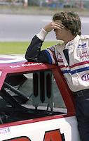 Rick Baldwin on gird with car Firecracker 400 at Daytona International Speedway in Daytona Beach, FL on July 4, 1983. (Photo by Brian Cleary/www.bcpix.com)