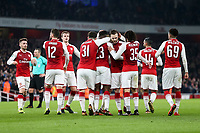 Danny Welbeck of Arsenal celebrates after scoring his side's first goal to make the score 1-0 during the Carabao Cup Quarter Final match between Arsenal and West Ham United at Emirates Stadium on December 19th 2017 in London, England <br /> Premier League 2017/2018 <br /> Foto Panoramic / Insidefoto