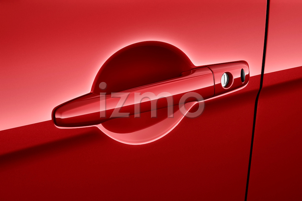 Door handle detail on a 2012 Mitsubishi Lancer GT Touring