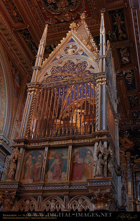 Baldachino Ciborium Arnolfo di Cambio Giovanni da Stefano 1367 Frescoes Barna da Siena Relic Chamber Heads of St Paul and St Peter Column Statues St Paul St Peter Nave St John in Lateran Rome