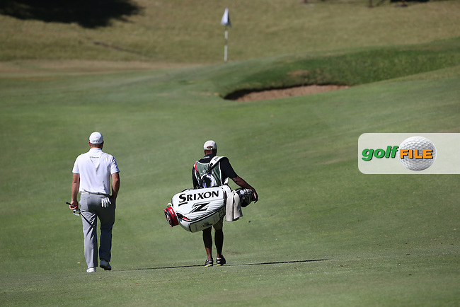 Journey to Better. Merrick Bremner (RSA) and caddie Solomon head to the 9th during Round Three of the Africa Open 2015 at the East London Golf Club, East London, Eastern Cape, South Africa. Picture:  David Lloyd / www.golffile.ie. 07/03/2015