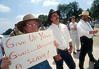 The Committee for 1776, a right wing pro gun organization, rallies on the Mall, at the Lincoln Memorial in Washington DC
