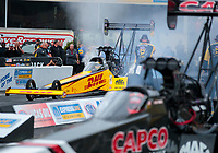 Sep 13, 2019; Mohnton, PA, USA; NHRA top fuel driver Richie Crampton during qualifying for the Keystone Nationals at Maple Grove Raceway. Mandatory Credit: Mark J. Rebilas-USA TODAY Sports