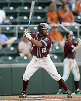 Texas A&M CF Kyle Colligan bats against Texas on May 16th, 2008 in Austin Texas. Photo by Andrew Woolley / Four Seam images..