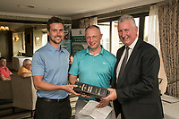 Nearest the pin 12th hole was a tie between Richard Reed of John Pye Auctions (left) and Steve Glynn of Jamieson Christie
