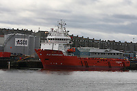 Oil Supply ship F. D. Remarkable docked in Aberdeen Harbour.