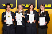 Girls Softball finalists Krysta Hoani, Beth Stavert, Kingsley Avery and Freya Bullock. ASB College Sport Young Sportsperson of the Year Awards held at Eden Park, Auckland, on November 24th 2011.