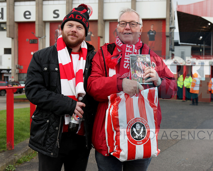 Sheffield United fan for fan gallery during the Emirates FA Cup Round One match at Bramall Lane Stadium, Sheffield. Picture date: November 6th, 2016. Pic Simon Bellis/Sportimage