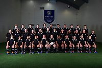 2019 New Zealand Schools rugby union team photo at the Sport & Rugby Institute in Palmerston North, New Zealand on Wednesday, 25 September 2019. BACK ROW: Ben Strang (Whanganui Collegiate), Matt Dobbyn (Hamilton Boys' High School), Wil Gualter (Lincoln High School), Cam Church (Saint Kentigern College), Jack Sexton (St Andrew's College), Te Rama Reuben (Saint Kentigern College), Meihana Grindlay (King's College), Vaiolini Ekuasi (St Peter's Cambridge), Seb Calder (St Andrew's College), Ruben Love (Palmerston North Boys' High School), Roderick Solo (Scots College); MIDDLE ROW: Nick Reid (Team Manager), Ezra Iupeli (National Team Administrator), Richie Marsden (Physiotherapist), Doug Neilson (Analyst), Corey Kellow (Sacred Heart College), Allan Craig (Saint Kentigern College), Dom Gardiner (St Bede's College), Mark Hammett (Head Coach), Sam Rasch (Assistant Coach), Kevin Harding (Assistant Coach), Matt Sexton (Campaign Manager), Stephan Van Gruting (Strength & Conditioning Coach); FRONT ROW: Ben Lopas (Christchurch Boys' High School), Manu Paea (Rotorua Boys' High School), Max Hughes (Christchurch Boys' High School), Gideon Wrampling (St Paul's Collegiate), Anton Segner (Nelson College), Zach Gallagher – Captain (Christ's College), Tiaan Tauakipulu (Saint Kentigern College), Jacob Ratumaitavuki-Kneepkens (Francis Douglas Memorial College), Blair Murray (New Plymouth Boys' High School), Ollie Lewis (Christchurch Boys' High School), Aidan Morgan (King's College). Photo: Dave Lintott / lintottphoto.co.nz
