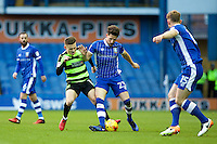 Sheffield Wednesday v Huddersfield Town, 14.1.2017<br /> <br /> EFL Sky Bet Championship<br /> Picture Shaun Flannery/Trevor Smith Photography<br /> <br /> Huddersfield's Jack Payne challenges Wednesday's Sam Hutchinson.
