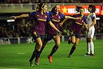 UEFA Women's Champions League 2018/2019.<br /> Quarter Finals.<br /> FC Barcelona vs LSK Kvinner FK: 3-0.<br /> Mariona Caldentey & Toni Duggan.