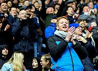 Blackburn Rovers fans cheer their team in the second half<br /> <br /> Photographer Alex Dodd/CameraSport<br /> <br /> The EFL Sky Bet Championship - Blackburn Rovers v Hull City - Saturday 26th January 2019 - Ewood Park - Blackburn<br /> <br /> World Copyright © 2019 CameraSport. All rights reserved. 43 Linden Ave. Countesthorpe. Leicester. England. LE8 5PG - Tel: +44 (0) 116 277 4147 - admin@camerasport.com - www.camerasport.com