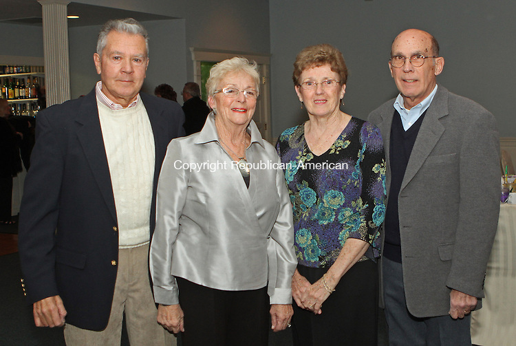 Winsted, CT-020213MK54  (from left) Jack and Marlene Rouleau with Sheila and Art Borla gathered during the Highland Lake Watershed Association annual dinner dance at Crystal Peak in Winsted. Michael Kabelka Republican American