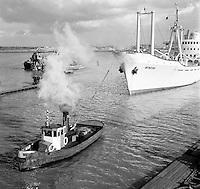 Retro Antwerpse haven
