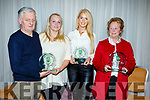 Best Public House awarded to Tommy Commerford and Lorna Galvin (Slieve Mish Bar), Rose Dennehy (Munster Bar) and Carmel Turner (Turners Bar) at the Tralee Tidy Towns awards in the Rose Hotel on Tuesday night.