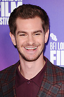 Andrew Garfield at the photocall for &quot;Breathe&quot;, part of the BFI London Film Festival, at the Mayfair Hotel, London, UK. <br /> 04 October  2017<br /> Picture: Steve Vas/Featureflash/SilverHub 0208 004 5359 sales@silverhubmedia.com