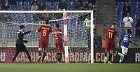 Calcio, Serie A: AS Roma - Sampdoria, Roma, stadio Olimpico, 28 gennaio 2018. i<br /> Sampdoria's Duvàn Zapata (r) celebrates after scoring during the Italian Serie A football match between AS Roma and Sampdoria at Rome's Olympic stadium, January 28, 2018.<br /> UPDATE IMAGES PRESS/Isabella Bonotto