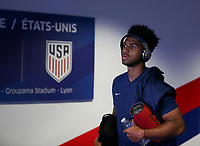 Lyon, France - Saturday June 09, 2018: Erik Palmer-Brown during an international friendly match between the men's national teams of the United States (USA) and France (FRA) at Groupama Stadium.