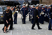 Former President George W. Bush and Laura Bush follow the casket of former President George H.W. Bush into a State Funeral at the National Cathedral, Wednesday, Dec. 5, 2018, in Washington. <br /> Credit: Alex Brandon / Pool via CNP