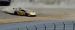 Monterey California, May 4, 2014, Laguna Seca Monterey Grand Prix, Lamborghini Trofero spins off track.