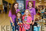 Sandra Leahy and Gemma O'Connell of the Kerry County Museum with Ava O'Donoghue and Emily Clarke in the Manor West Shopping Centre and Retail Park hosting Kerry's local community organisations for its 'Community on Your Doorstep' exhibition on Saturday.