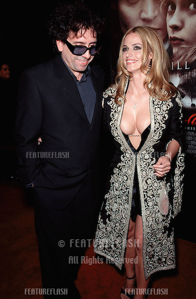 "17NOV99:  Director TIM BURTON & actress girlfriend LISA MARIE at the world premiere, in Hollywood, of their new movie ""Sleepy Hollow"" which stars Johnny Depp & Christina Ricci..© Paul Smith / Featureflash"