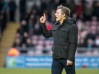 Wycombe Wanderers Manager Gareth Ainsworth during the Sky Bet League 2 match between Northampton Town and Wycombe Wanderers at Sixfields Stadium, Northampton, England on the 20th February 2016. Photo by Liam McAvoy.