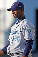 August 13, 2009:  Pitcher Jose Pinales of the Vermont Lake Monsters during a game at Dwyer Stadium in Batavia, NY.  The Lake Monsters are the Short-Season Class-A affiliate of the Washington Nationals.  Photo By Mike Janes/Four Seam Images