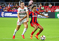 Washington, DC. - Saturday, August 25, 2018: The Portland Thorns defeated the Washington Spirit 1-0 in a NWSL match at Audi Field.