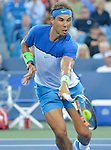 Rafael Nadal (ESP) takes the first set against Feliciano Lopez (ESP), winning 7-5