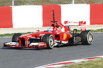 19.02.2013 Montmelo, Barcelona, Spain. Pre-seasson testing day 1. Picture show Fernando Alonso driving F138 at Circuit de Catalunya