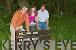 LAUNCHING: Con O'Shea, Izabela Witkowska and John Moran, at Kilderry Wood,Miltown on Tuesday to launch the Consulation of Forrest Management plan..