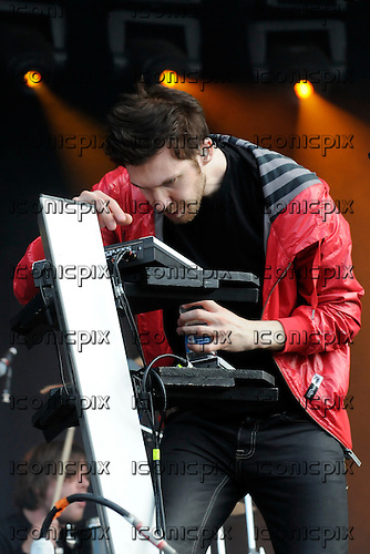 Calvin Harris - performing live on the Main Stage at the Wireless Festival held in Hyde Park London UK - 05 Jul 2009.  Photo credit: George Chin/IconicPix