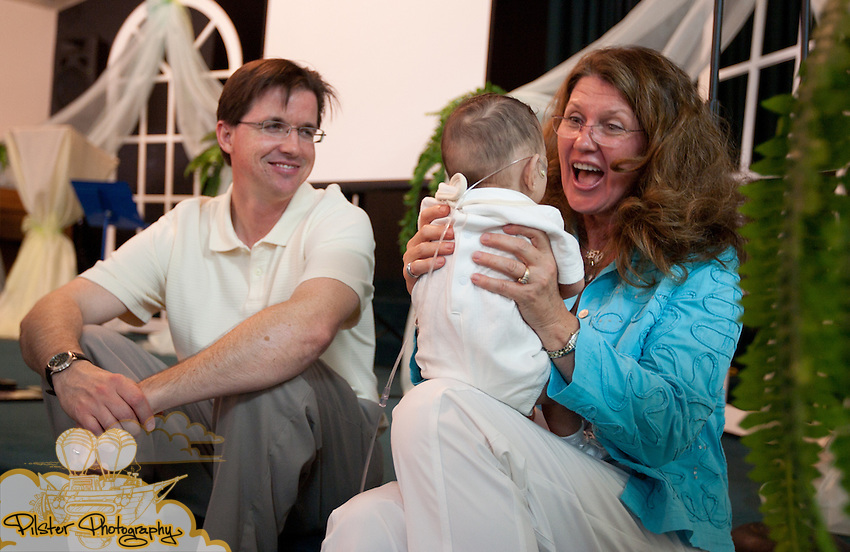 The dedication of Kaleb Moore on Sunday, June 13, 2010, at the First Baptist Church of Windermere in Windermere, Florida. Rosie and Marcus Moore celebrated their sons life after a rough first few months in the NICU. (Chad Pilster, PilsterPhotography.net)
