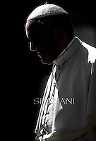 Pope Francis during general audience in St. Peter square at the Vatican,.August 27, 2014