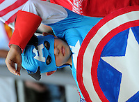 Fans of team USA during the FIFA Women's World Cup at the FIFA Stadium in Dresden, Germany on July 10th, 2011.
