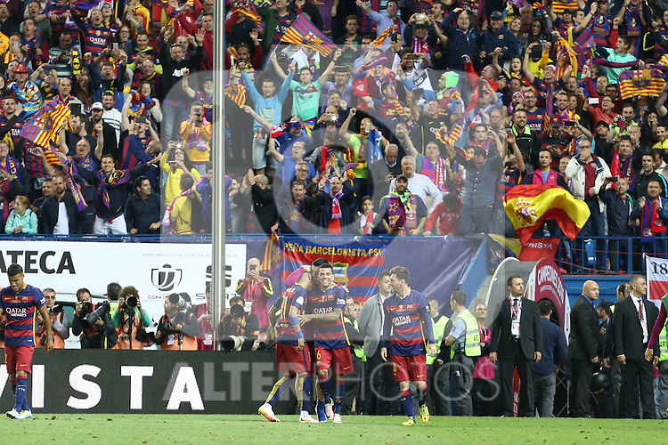 FC Barcelona'splayers  during Spanish Kings Cup Final match. May 22,2016. (ALTERPHOTOS/Rodrigo Jimenez)