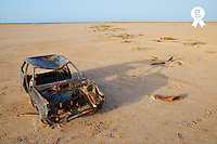 Abandoned and rusty car wreck in desert (Licence this image exclusively with Getty: http://www.gettyimages.com/detail/106905610 )