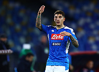 29th February 2020; Stadio San Paolo, Naples, Campania, Italy; Serie A Football, Napoli versus Torino; Giovanni Di Lorenzo of Napoli appeals to the referee