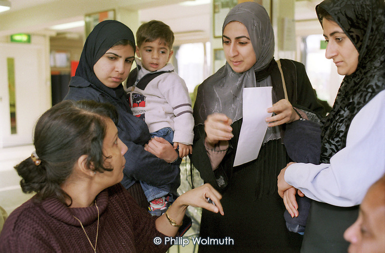 Yemeni Women's Group advice session, held in a North Paddington community centre, London.