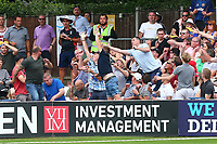 The ball flies into the crowd during Essex Eagles vs Glamorgan, NatWest T20 Blast Cricket at The Cloudfm County Ground on 16th July 2017