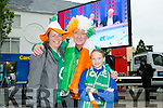 watching the Euro 2016 Match on the Big Screen in the Square Tralee of  Ireland v Belgum on Saturday were l-r  Heidi Donlon, Killarney, Claudia Donlon, Killarney and Amelia Donlon