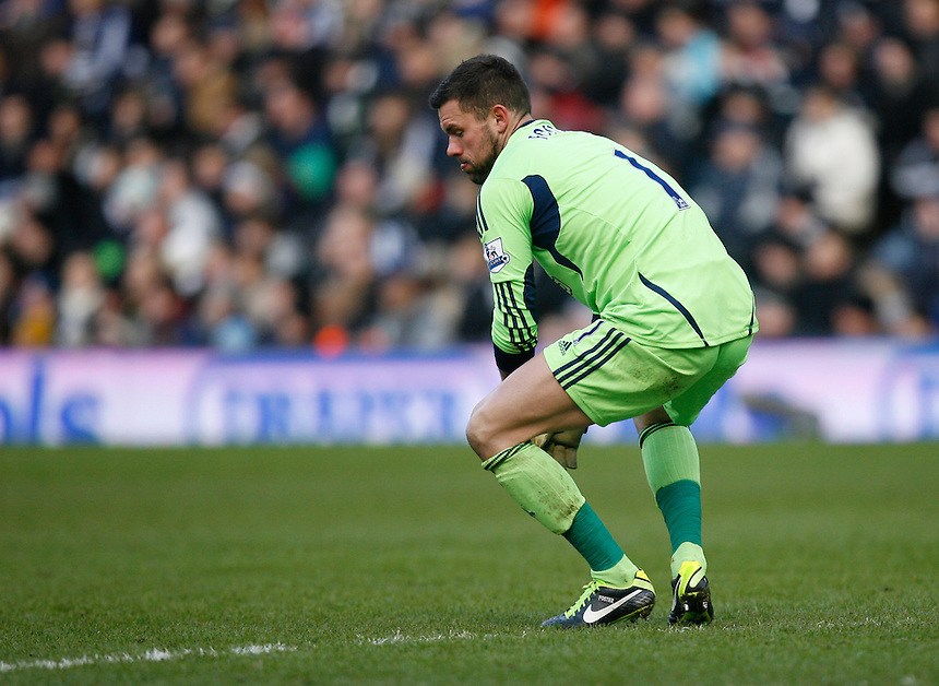 West Bromwich Albion's Ben Foster .. - Credit - CameraSport - Jack Phillips - .Football - Barclays Premiership - West Bromwich Albion v Sunderland - Saturday 23rd February 2013 - The Hawthorns - West Bromwich..© CameraSport - 43 Linden Ave. Countesthorpe. Leicester. England. LE8 5PG - Tel: +44 (0) 116 277 4147 - admin@camerasport.com - www.camerasport.com