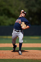 Atlanta Braves pitcher Brad Roney (93) during an instructional league game against the Toronto Blue Jays on September 30, 2015 at the ESPN Wide World of Sports Complex in Orlando, Florida.  (Mike Janes/Four Seam Images)