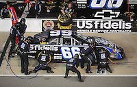 May 1, 2009; Richmond, VA, USA; NASCAR Nationwide Series driver Steve Wallace pits during the Lipton Tea 250 at the Richmond International Raceway. Mandatory Credit: Mark J. Rebilas-