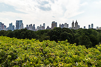 View of The Eldorado and Central Park West from the roof of the Metropolitan Museum of Art. New York, New York.