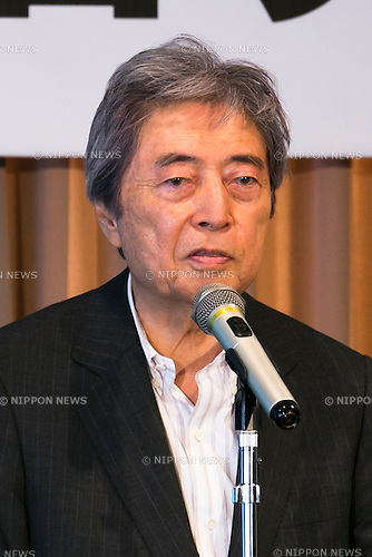 Morihiro Hosokawa, former Prime Minister of Japan and chairman of the Eisei-Bunko Museum attends a press conference to promote ''Shunga'', an exhibition of Japanese erotic art, at the Foreign Correspondents Club of Japan on May 21, 2015, Tokyo, Japan. The exhibition is organized with the collaboration of museums in Japan, Britain and other European countries, and showcases 120 shunga paintings which will be displayed together for the first time. Shunga is a Japanese erotic art, which was produced between 1600 and 1900, and continues to influence manga, anime and Japanese tattoo art. The actual exhibition will be held from September 19th to December 23rd at the Eisei-Bunko Museum. (Photo by Rodrigo Reyes Marin/AFLO)